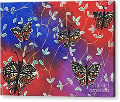 Butterfly Family Tree Acrylic Print