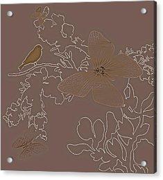 Butterfly Floral  9 Acrylic Print by Debra     Vatalaro
