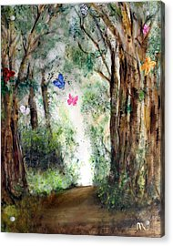Butterfly Forest Acrylic Print by Michela Akers