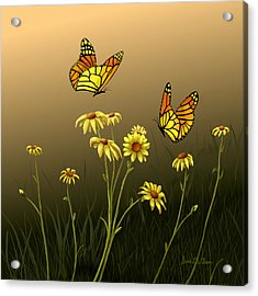 Acrylic Print featuring the painting Butterfly Haven by Sena Wilson