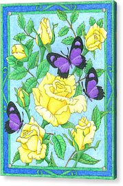Butterfly Idyll-roses Acrylic Print