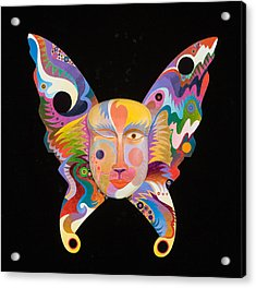 Butterfly Mask Acrylic Print by Bob Coonts
