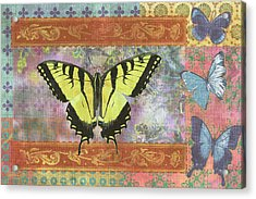 Butterfly Mosaic Acrylic Print by JQ Licensing