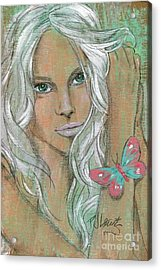 Butterfly Acrylic Print by P J Lewis