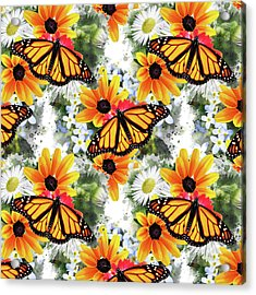 Acrylic Print featuring the mixed media Butterfly Pattern by Christina Rollo