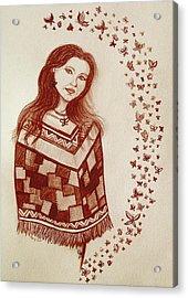Butterfly Princess Acrylic Print by Nick Gustafson