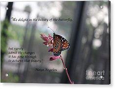 Butterfly Quote Art Print Acrylic Print