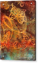 Butterfly Sun Dance Acrylic Print by Angela L Walker