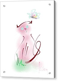 Acrylic Print featuring the mixed media Butterfly Surprise by Larry Talley