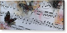 Butterfly Symphony Acrylic Print by Dorina  Costras