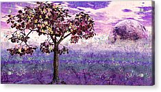 Acrylic Print featuring the digital art Butterfly Tree by Margaret Hormann Bfa