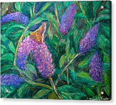Acrylic Print featuring the painting Butterfly View by Kendall Kessler