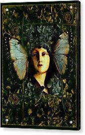 Butterfly Woman Acrylic Print