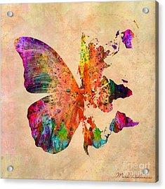 Butterfly World Map  Acrylic Print by Mark Ashkenazi