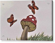 Butterlies Dancing Acrylic Print