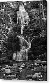 Buttermilk Falls In Black And White Acrylic Print