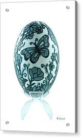 Buttery Fly Garden Emu Egg Acrylic Print