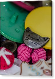 Button Button Box Acrylic Print