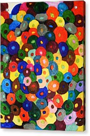 Button Buttons Whose Got The Buttone One Acrylic Print by Brenda Adams
