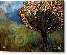 Button Tree 0003 Acrylic Print by Monica Furlow