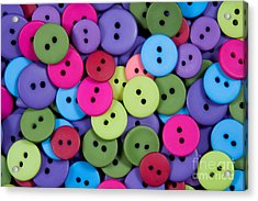 Buttons Acrylic Print by Dan Holm