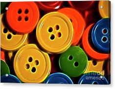 Buttons Acrylic Print by Linda Blair