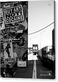 Buy Art Not Cocaine Acrylic Print by James Aiken