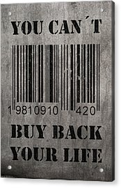 Buy Back Acrylic Print by Nicklas Gustafsson