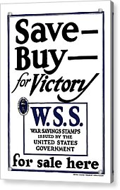 Buy For Victory Acrylic Print by War Is Hell Store