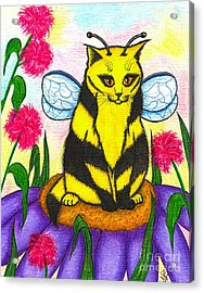 Buzz Bumble Bee Fairy Cat Acrylic Print