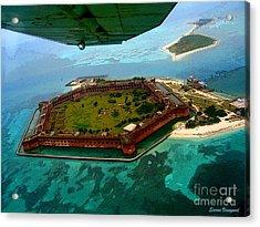 Buzzing The Dry Tortugas Acrylic Print