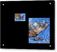 Bw 3 Van Gogh Acrylic Print
