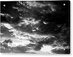 Acrylic Print featuring the photograph Bw Sky by Eric Christopher Jackson