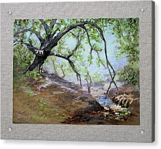 Acrylic Print featuring the painting By The Creek by Bonnie Rinier