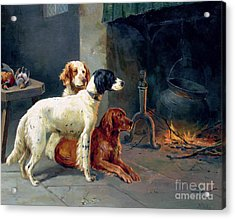 By The Fire Acrylic Print by Alfred Duke