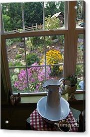 By The Garden Window In North Carolina Acrylic Print