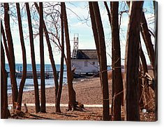 Acrylic Print featuring the photograph By The Lake by Valentino Visentini