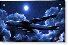 Acrylic Print featuring the painting By The Light Of The Blue Moon by Dave Luebbert