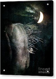 Acrylic Print featuring the digital art By The Light Of The Moon by Nada Meeks