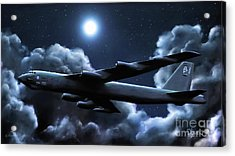 Acrylic Print featuring the painting By The Light Of The Silvery Moon by Dave Luebbert