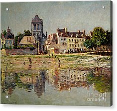 By The River At Vernon Acrylic Print by Claude Monet