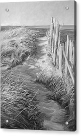 By The Sea - Black And White Acrylic Print