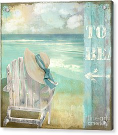 By The Sea Acrylic Print by Mindy Sommers