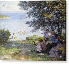 By The Water Acrylic Print by Edward Henry Potthast