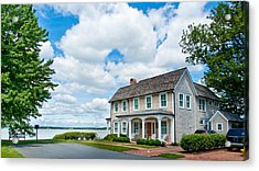 Acrylic Print featuring the photograph By The Water In Oxford Md by Charles Kraus