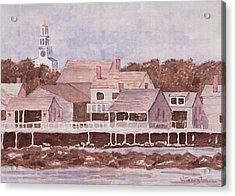 By The Wharf Acrylic Print by Bill Torrington
