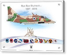 Bye Bye Skyhawk Acrylic Print