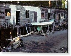 Acrylic Print featuring the photograph Bygone Boatyard by Carol Kinkead