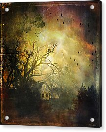Bygone House On The Hill Acrylic Print