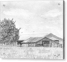 Byhalia Road Farm - Drawing Acrylic Print